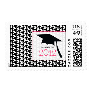 Houndstooth & Graduation Cap Class of 2012 Postage Stamp