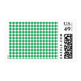 Houndstooth GREEN ANY COLOR BACKGROUND Postage