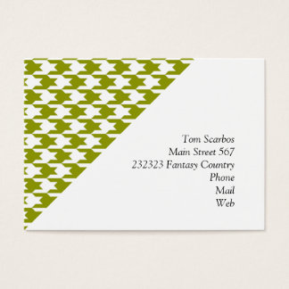 houndstooth green (I) Business Card