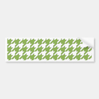 houndstooth greenery and white bumper sticker