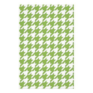 houndstooth greenery and white stationery