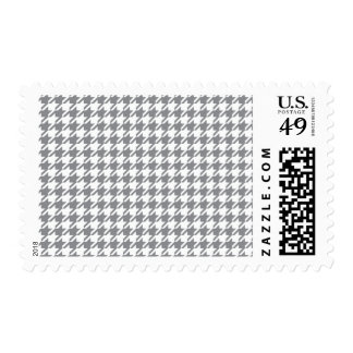 Houndstooth GREY ANY COLOR BACKGROUND Postage