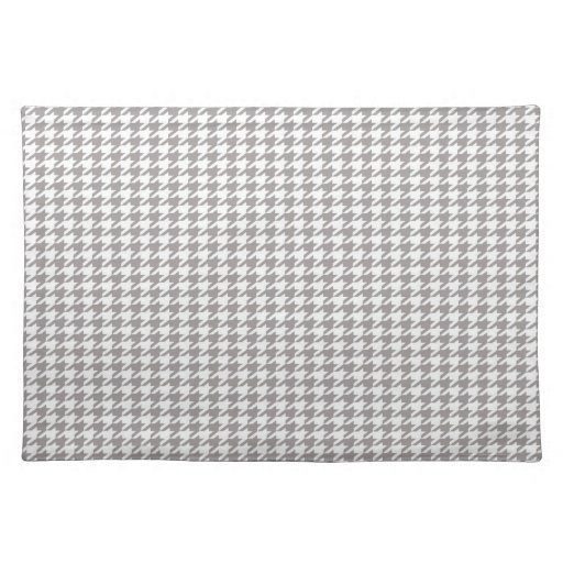 Houndstooth gris manteles