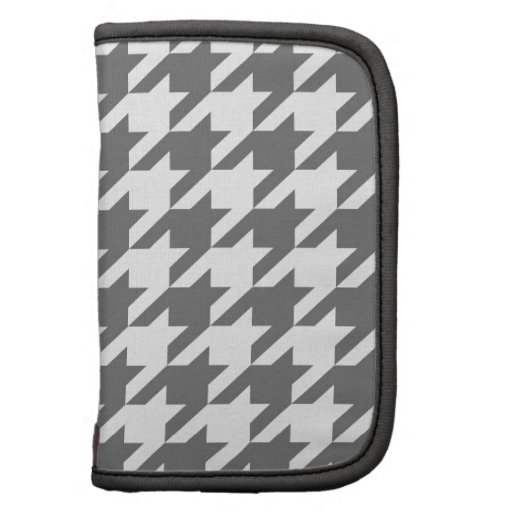 Houndstooth gris planificadores