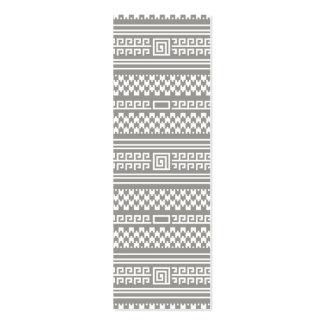 Houndstooth gris y blanco con espirales tarjeta de visita