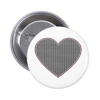 Houndstooth Heart (Tuscaloosa, Alabama) 2 Inch Round Button
