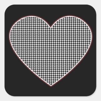 Houndstooth Heart (Tuscaloosa, Alabama) Square Sticker