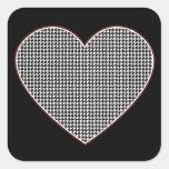 Houndstooth Heart (Tuscaloosa, Alabama) Stickers