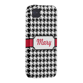 Houndstooth iPhone 4 Case Mate Tough