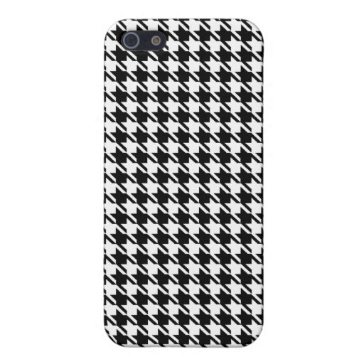 Houndstooth iPhone 5 Protectores