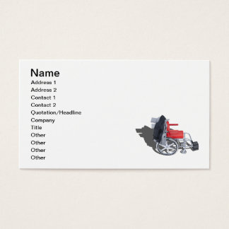 Houndstooth Jacket Wheelchair Business Card