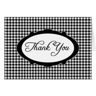Houndstooth le agradece Notecard Felicitación