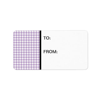 Houndstooth Lilac and White Label