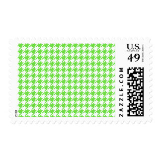 Houndstooth LIME GREEN ANY COLOR BACKGROUND Postage