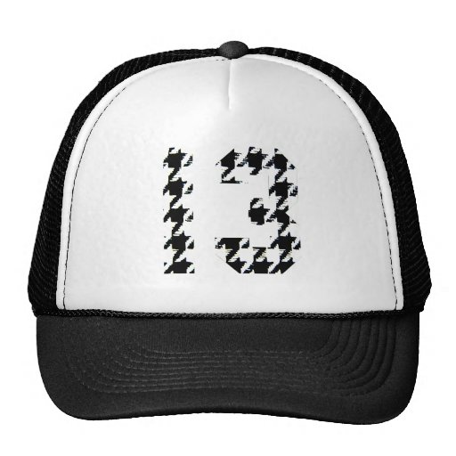 Houndstooth Lucky Number 13 Hat