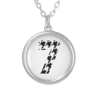 Houndstooth Lucky Seven Necklace