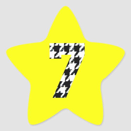 Houndstooth Lucky Seven Star Sticker