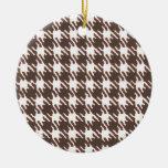 Houndstooth marrón del vintage ornamentos de reyes magos