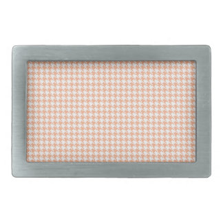 Houndstooth Melon and White Rectangular Belt Buckles