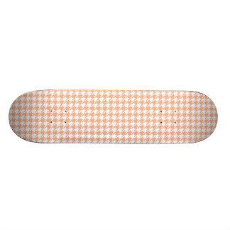 Houndstooth Melon and White Skate Board