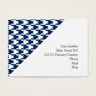 houndstooth midnight (I) Business Card