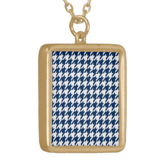 houndstooth midnight (I) Gold Plated Necklace