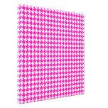 Houndstooth moderno rosado en Emporiomoffa Impresion En Lona
