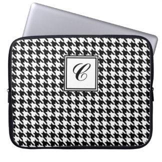 Houndstooth Monogram Laptop Sleeve