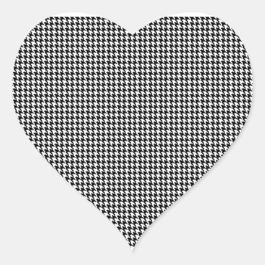 Houndstooth Monogrammed Custom Letter Heart Sticker