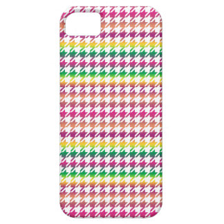 Houndstooth MULTI 1 ANY COLOR BACKGROUND iPhone SE/5/5s Case