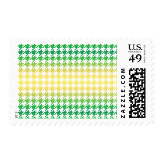 Houndstooth MULTI 4 ANY COLOR BACKGROUND Postage