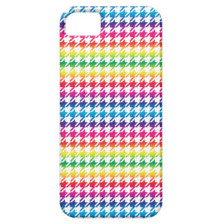 Houndstooth MULTI 5 ANY COLOR BACKGROUND iPhone SE/5/5s Case