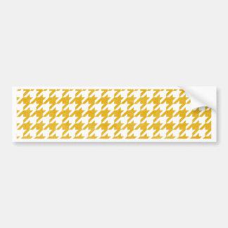 Houndstooth - Mustard Bumper Sticker