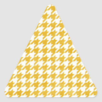 Houndstooth - Mustard Triangle Stickers