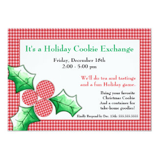 Houndstooth 'N Holly Holiday Cards