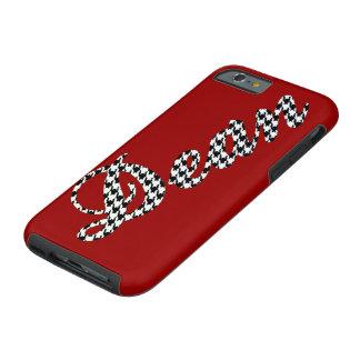 Houndstooth Name Dean Tough iPhone 6 Case