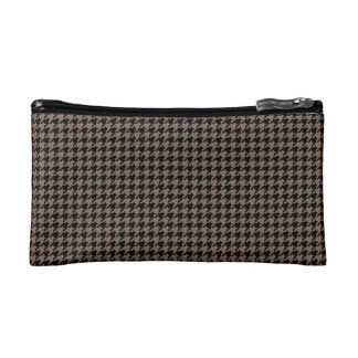 Houndstooth negro/de color topo adaptable