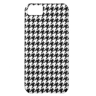 Houndstooth negro funda para iPhone 5C