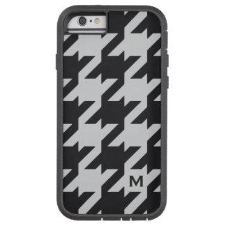 Houndstooth negro gris moderno intrépido con el funda para  iPhone 6 tough xtreme