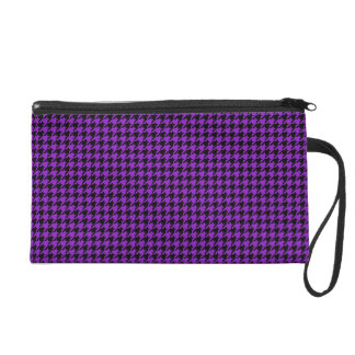 Houndstooth negro/púrpura adaptable