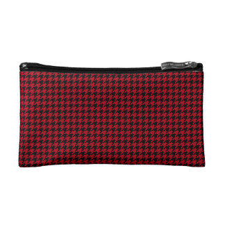 Houndstooth negro/rojo adaptable