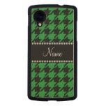 Houndstooth negro verde conocido personalizado funda de nexus 5 carved® de arce