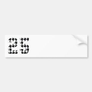 Houndstooth Number 25 Bumper Sticker