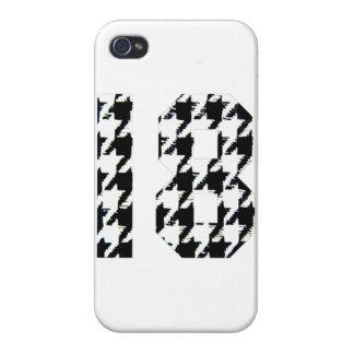 Houndstooth número 18 iPhone 4/4S funda