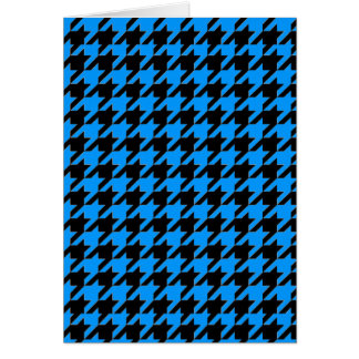 Houndstooth on Blue Note Card