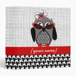 Houndstooth Owl Binder