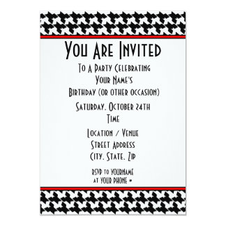 Houndstooth Party Invitation