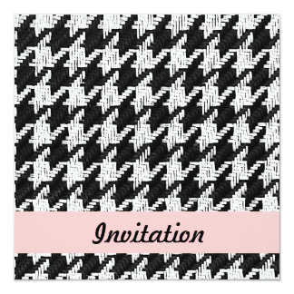 Houndstooth party invitation template