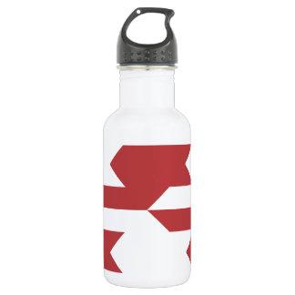 Houndstooth Pattern 1 Aurora Red Stainless Steel Water Bottle