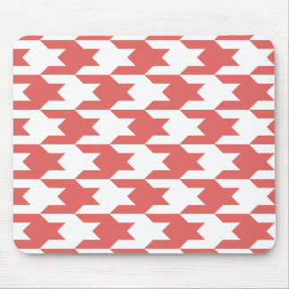Houndstooth Pattern 1 Cayenne Mouse Pad